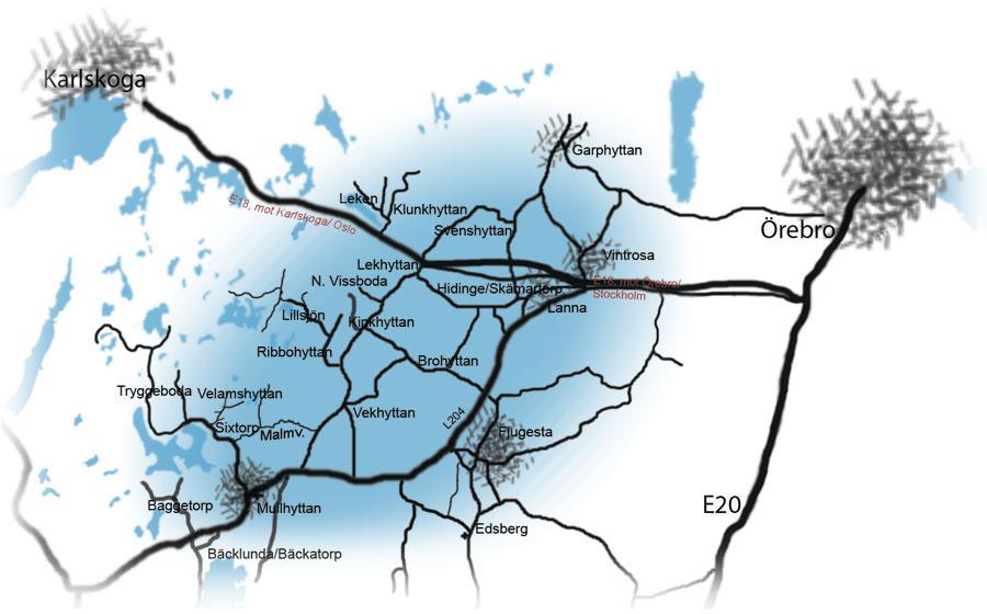 Kilsbergskantens verksamhetsområde har inga fasta gränser!